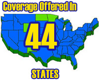 We offer a full range of coverage in 44 states