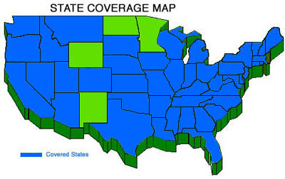 We offer a full range of coverage in 44 states!