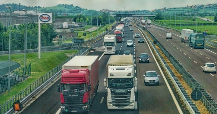 Truckers on the road